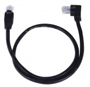 CAT5e Left Angle to Straight Patch Cords, Operating Temperature Range: 32 to 140°F (0 to 60℃)