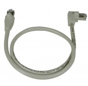 CAT6 Right Angle to Straight Shielded Patch Cords, Operating Temperature Range: 32 to 140°F (0 to 60°C)
