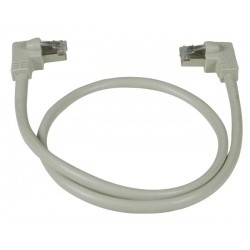 CAT6 Right Angle to Left Angle Shielded Patch Cords, 60C