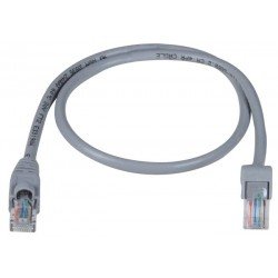 CAT5e Down Angle to Straight Patch Cords, Operating Temperature Range: 32 to 140°F (0 to 60℃)