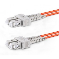 SC-SC Duplex Multimode Fiber Patch Cables, 62.5-Micron