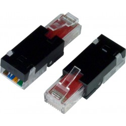CAT6 Tooless RJ45 Plug for 24-26 AWG Solid/Stranded Cable
