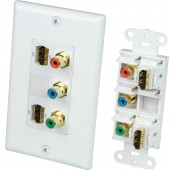Dual HDMI, Component Video Wall Plate