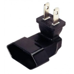 NEMA 1-15P to Europlug CEE 7/16 Down Angled Power Plug Adapter