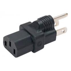 NEMA 5-15P to IEC 320 C13 Power Plug Adapter