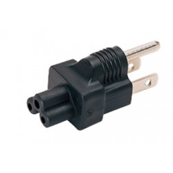 NEMA 5-15P to IEC 320 C5 Power Plug Adapter