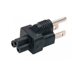 NEMA 5-15P to IEC 320 C5 Power Plug Adapter