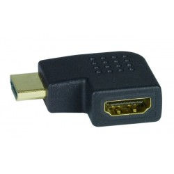 HDMI Type A Left Angle Adapter, Male to Female