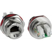 CAT5e Quick Release Case Side Metal Shielded Waterproof RJ45 Connector, with IDC termination block
