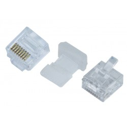 RJ45 Plug for 32AWG Ultra Super Flat Stranded Unshielded CAT5e/6 Cable