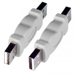 USB 2.0 Type A Gender Changer, Male to Male