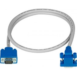 Down Angled to Straight Connector VGA Cables, Male-to-Male