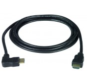 Left Angled HDMI Interface Cable, Male to Male, 30 AWG