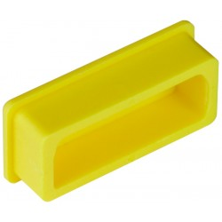 DVI Female Connector Cover, Yellow