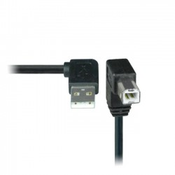 USB 2.0 Right Angle Type A to Down Angle Type B Cables