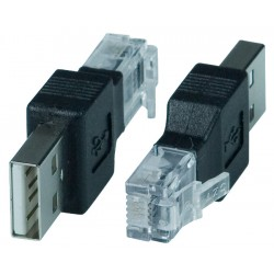 USB Type A Male to RJ11 Male Adapter