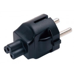 Schuko CEE 7/7 to IEC 320 C5 Power Plug Adapter