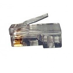 CAT6 Solid or Stranded 23-26 AWG RJ45 Plug