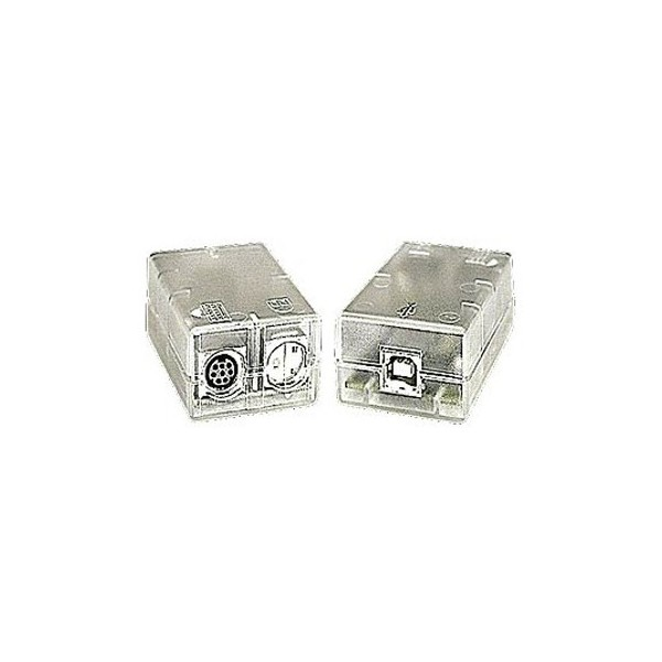 BeMatik Serial connector adapter DB9 male to PS2 miniDIN 6-pin male