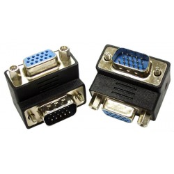 Up Angled VGA Adapter, Male to Female