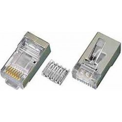 CAT6 Shielded Solid RJ45 Plug for 24-26 AWG Cable