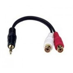 3.5mm Stereo Male Plug / Dual RCA Female Jack Adapter Y-Cable