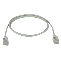 CAT6A Ultra-Thin Slim Patch Cables, Outside Diameter 0.11in
