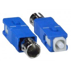 ST Female to SC Male Simplex Singlemode Fiber Optic Adapter
