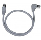 CAT5e Right Angle to Straight Shielded Patch Cord, 2Ft.