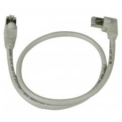 CAT6 Left Angle to Straight Shielded Patch Cords, Operating Temperature Range: -4 to 140°F (-20 to 60°C)
