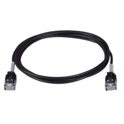 CAT6A Ultra-Thin Slim Patch Cables with Strain Relief Spring, Outside Diameter 0.11in
