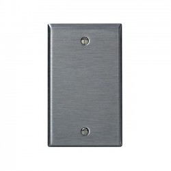 Leviton Stainless Steel Single-Gang Blank Wallplate