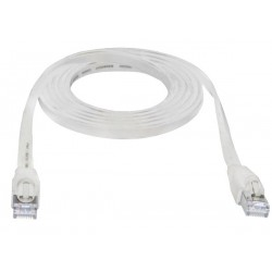 CAT6 Flat Shielded Patch Cords, Standard Boot,  White