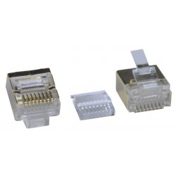 CAT7 Flat Stranded Shielded RJ45 Plug for 32 AWG Cable