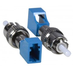 LC Female to ST Male Simplex Singlemode Fiber Optic Adapter