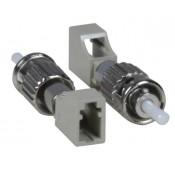 LC Female to ST Male Simplex Multimode Fiber Optic Adapter