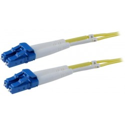 LC-LC Duplex Singlemode Fiber Patch Cables, 9-Micron