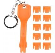 RJ45 Port Blocker – 10 Locks and 1 Removal Key, Orange