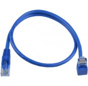 CAT5e Up Angle to Straight Patch Cords, Blue