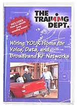 network training dvd, home networking bible, wiring audio videowiring your home for voice, data, and broadband rf networking fiber training video cd