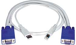 VGA + USB Interface Cable - Male to Male