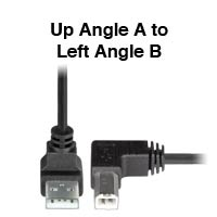 Up to Left Angle USB 2.0 Cable