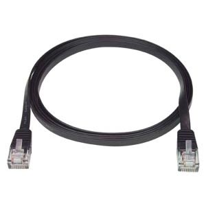 RJ45 male-male, CAT5E super flat black, 1 feet