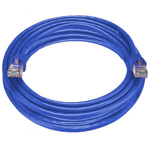 CAT6 Stranded Shielded Cable, Blue, 100 feet