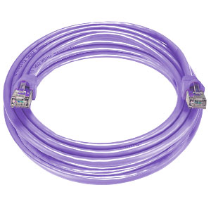 CAT6 Stranded Shielded Cable, Purple, 100 feet