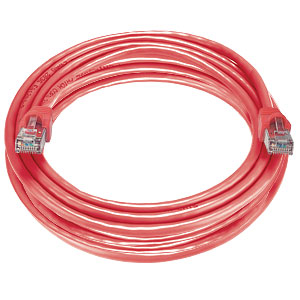 CAT6 Stranded Shielded Cable, Red, 100 feet