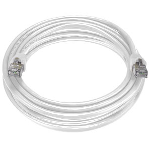 CAT6 Stranded Shielded Cable, White, 100 feet