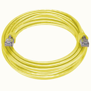 CAT6 Stranded Shielded Cable, Yellow, 100 feet