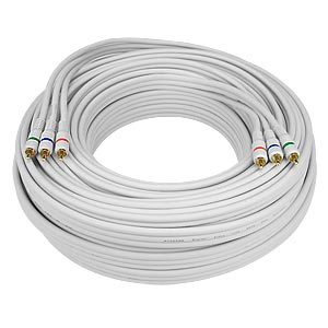 HDTV YPbPr Component Video Cable, White, 50 feet