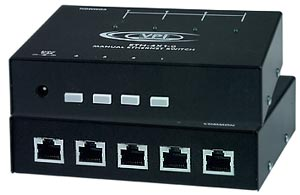 4-Port Manual Gigabit Ethernet Switch with RS232